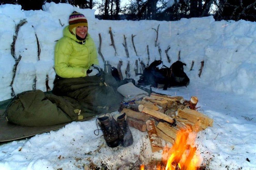 Villmarkskurs i Femundsmarka: villmarksliv i vinterleir (bilde)