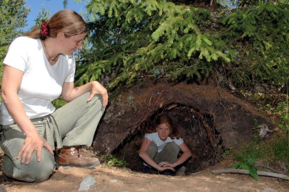 Waldcamp: Bärenhöhle bei Orsa, Schweden (Bild)