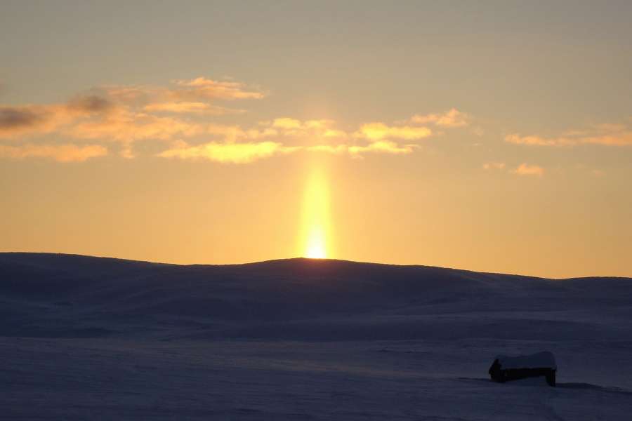 Winter Solstice in Norway: Wilderness Life (picture)