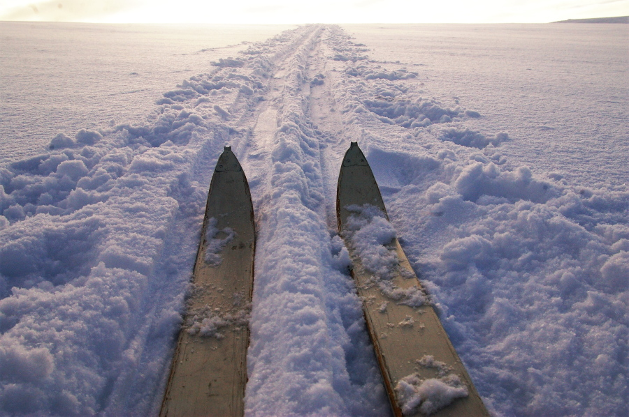 Norway: Backcountry Skiing on traditional wooden skis (picture)